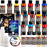 Createx 20 Wicked Colors 2oz Starter Colors Airbrush Paint Set