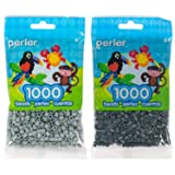 Perler Bead Bag 1000, Bundle of Pewter and Charcoal (2 Pack) (Color: Pewter & Charcoal)