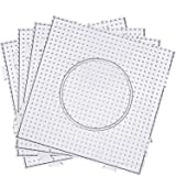 Maxdot 5 mm Large Square Fuse Beads Boards Clear Plastic Pegboards for Kids Craft Beads (6 Pieces)