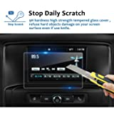 LFOTPP 2014-2018 Chevrolet Silverado 1500 7 Inch LTZ MyLink Car Navigation Screen Protector, [9H] Tempered Glass Infotainment Center Touch Display Screen Protector Anti Scratch High Clarity (7 Inch) (Color: 7 Inch)