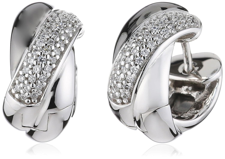 Esprit Damen-Creolen 925 Sterling Silber Periboia echt schwarz ELCO91039D000 online kaufen