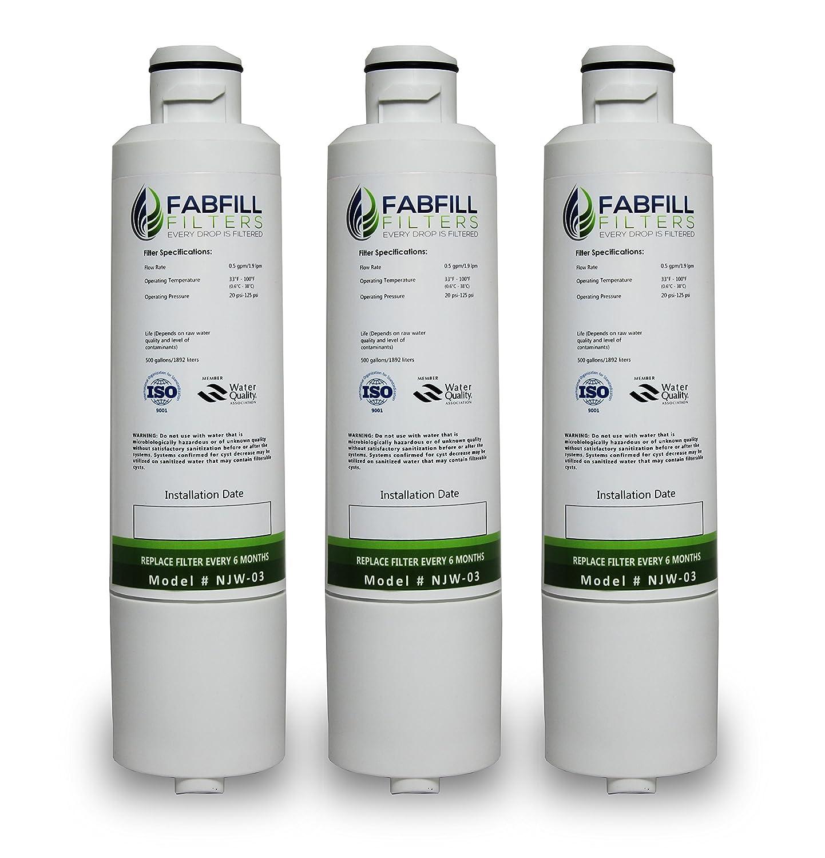 Replacement Samsung RS261MDRS/XAA Refrigerator Water Filter - Compatible Samsung DA29-00020B, DA29-00020A, HAF-CIN Fridge Water Filter Cartridge - 3-pack