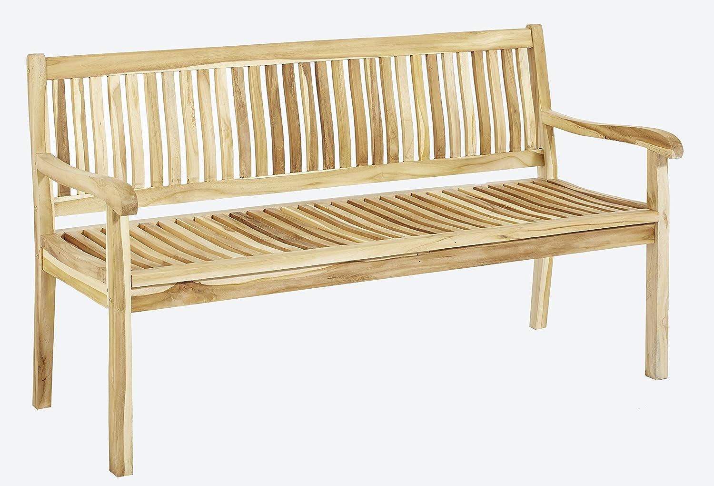 Trendy-Home24 3-Sitzer Teakholz Arinos Bank Massivholz Holzbank Gartenbank ca. 150 cm breit Sitzbank günstig kaufen