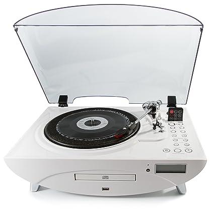 Enregistrement GPO Jive 3 Vitesses avec lecteur CD et MP3–Blanc