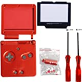 Timorn Full Parts Housing Shell Pack Replacement for Nintendo GBA SP Gameboy Advance SP (Wine Red Pack) (Color: Wine Pack)