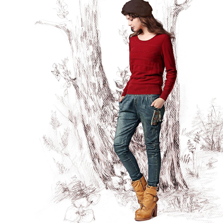 Amazon.co.jp: (アートカー)Artka オリジナルデザイン レディーズカジュアルデニムパンツ KN16447Q: 服&ファッション小物通販