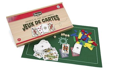 Jeujura - 8145 - Jeu De Cartes - Coffret De Jeux - Bois