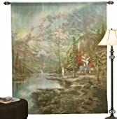 Thomas Kinkade Mountain Majesty Window Art Curtain