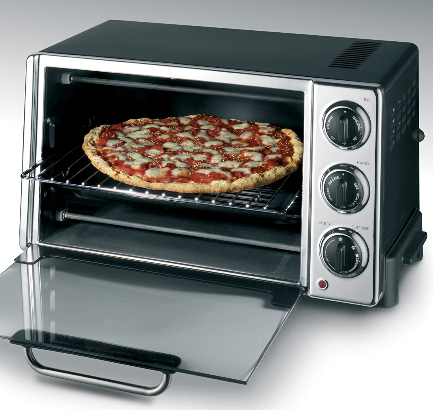 countertop convection oven rotisserie bake pizza toaster broil warm food cooking ebay. Black Bedroom Furniture Sets. Home Design Ideas