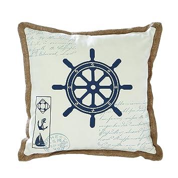 Benzara Fabric Pillow with Pillow Outline