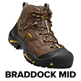KEEN Utility Men's Braddock Mid Steel-Toed Boot,Cascade Brown/Tawny Olive,10.5 EE US (Color: Cascade Brown/Tawny Olive, Tamaño: 10.5 EE US)