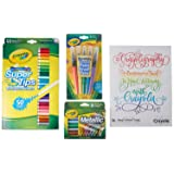 Crayola Crayoligraphy Calligraphy Kit, Hand Lettering for Beginners, Gift, 60+ Pieces (Tamaño: 12 Count)