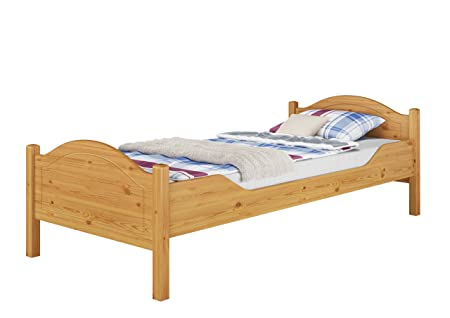 Letto in pino massello Eco 100x200 anche per adulti con doghe legno e materasso 60.30-10 M FV