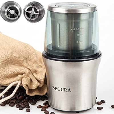 Secura Electric Coffee Grinder & Spice Grinder Via Amazon