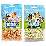 Perler Bead Bag 1000, Bundle of Butterscotch and Creme (2 Pack) (Color: Butterscotch & Crème)
