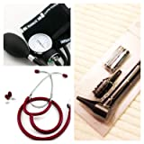 Infant Pediatric Blood Pressure Cuff & Stethoscope Set Plus Basic Otoscope