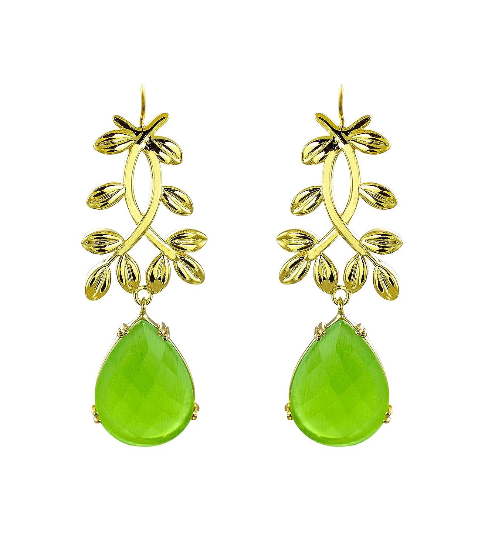 Zaveri-Pearls-Precious-Peridot-Earrings