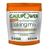 CAULIPOWER Cauliflower-Based Baking Mix, Paleo, 12 oz, Paleo All-Purpose Vegetable-Based Flour, Gluten Free, Grain Free, Non-GMO, Only 12 net carbs (Color: White, Tamaño: 12 oz)