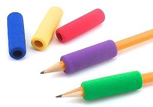 The Classics 12-Pack Soft Foam Pencil Grips, Assorted Colors, 1.5-Inch Long (TPG-16412) (Color: Original, Tamaño: 12-ct)