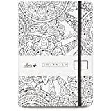 "ColorIt Circle Notebook Journal 5.8"" x 8.2"", A5, 160 Dot Grid Pages, Hardcover, Elastic Band, Inner Pocket, Bookmark, Perforated Pages, Perfect for Bullet Journaling"
