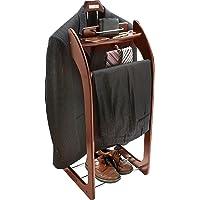 Smartek Deluxe Wooden Valet Stand (Mahogany/Espresso)