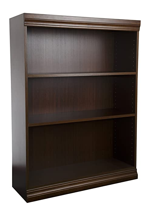 Norsons Industries Jefferson Traditional Wood Veneer Bookcase, 48-Inch, Vintage Walnut