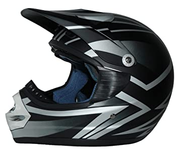 protectWEAR - Casque de moto cross enduro casque Casque mat-noir - L