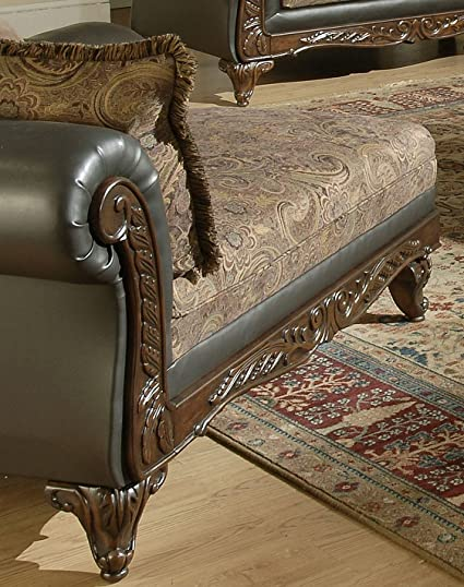 Chelsea Home Furniture Serta Ronalynn Chaise, Base Upholstered in San Marino Chocolate Poly Cotton Blend