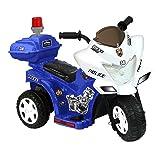 Kid Motorz Lil Patrol 6V, Blue and White (Color: Blue/White)