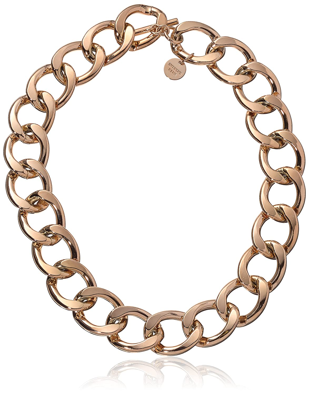 Dyrberg/Kern Damen-Kette ohne Anhänger 15/02 Quirea Rose Gold Messing teilvergoldet 50 cm - 338276