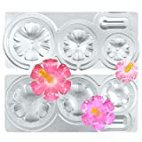 Funshowcase Assorted Size Cute Wild Flower Resin Epoxy Silicone Molds All-Purpose Hibiscus #1917 (Color: Wild Flower Hibiscus #1917)