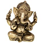Kapasi Handicrafts Kapasi Handicrafts Brass Ganesha Sitting Idol S