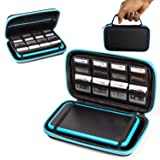 2DS XL Case, Orzly Carry Case for New Nintendo 2DS XL - Protective Hard Shell Portable Travel Case Pouch for New 2DS XL Console with Slots for Games & Zip Pocket - BLUE on Black (Color: BLUE on Black)