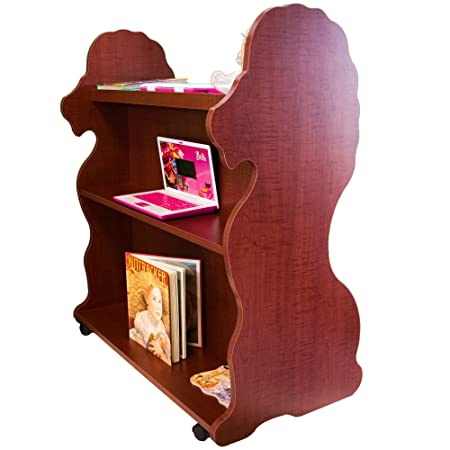 Ace Baby Furniture Lion Mobile Double-Sided Bookcase, Cherry