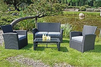 Gravidus 4-teilige Gartengarnitur mit Sofa