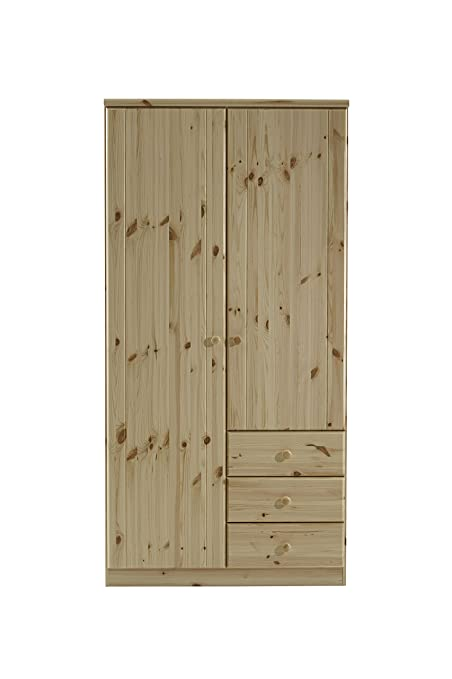 Steens Robe 2-Door 3-Drawer Natural Finish, Naural Pine