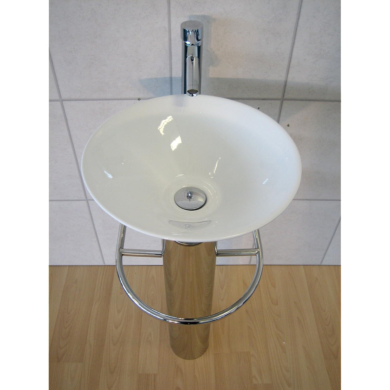 Designer Bathroom Sink Round Ceramic Glass Wash Basin