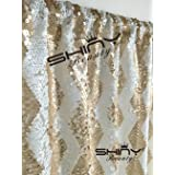 ShiDianYi 4FTX6FT-Champagne Chevron-SEQUIN PHOTO BACKDROP, Wedding Photo Booth,Photography Background (Champagne Chevron) (Color: Champagne Chevron, Tamaño: 4FTx6FT)