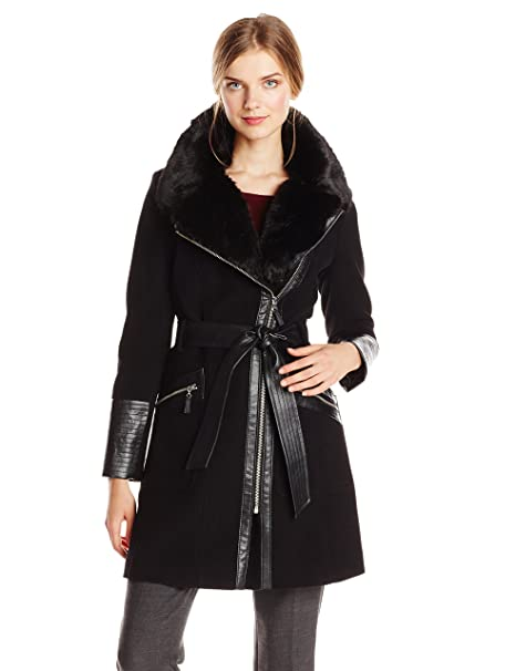 Via Spiga Women's Kate Wool-Blend Coat with Faux-Fur Collar (Replica)