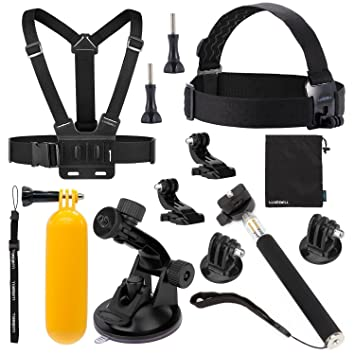 luxebell 8in1 kit d 39 accessoires kit kit combo compatibles pour gopro hero 4 4 hero 3. Black Bedroom Furniture Sets. Home Design Ideas