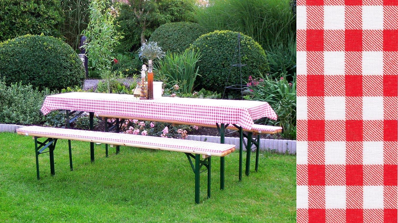 Auflagen Set für Festzeltgarnitur mit 50cm + 70cm Tisch, rot-kariert bestellen
