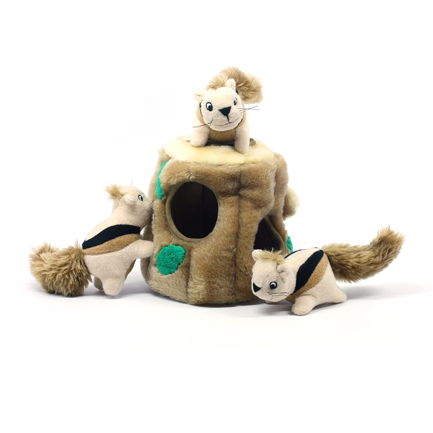 Outward Hound Hide a Squirrel Fun Hide and Seek Interactive Puzzle Plush Dog Toy