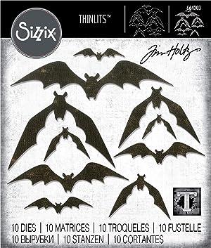 Sizzix 664203 Bat Crazy by Tim Holtz Dies, Multicolor (Color: Multicolor)