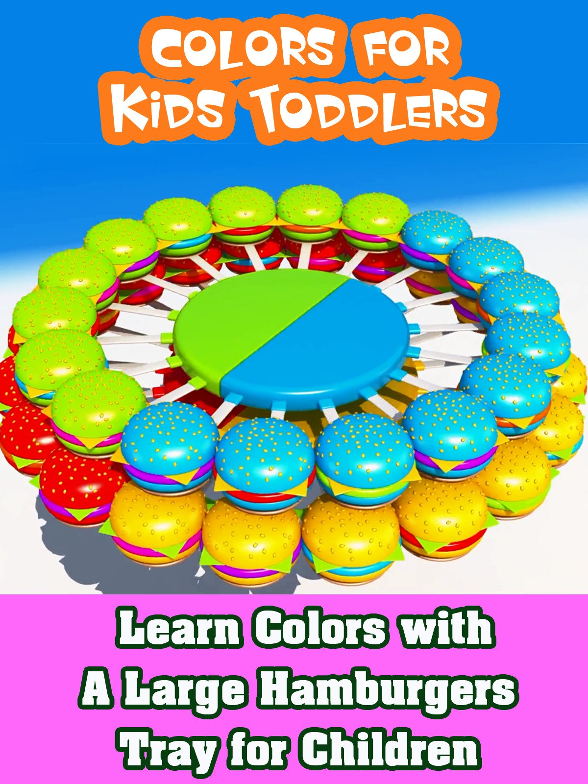 Learn Colors with A Large Hamburgers Tray for Children