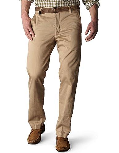Dockers Men's Signature Khaki D1 Slim Fit Flat Front Pant, British Khaki, 30x32