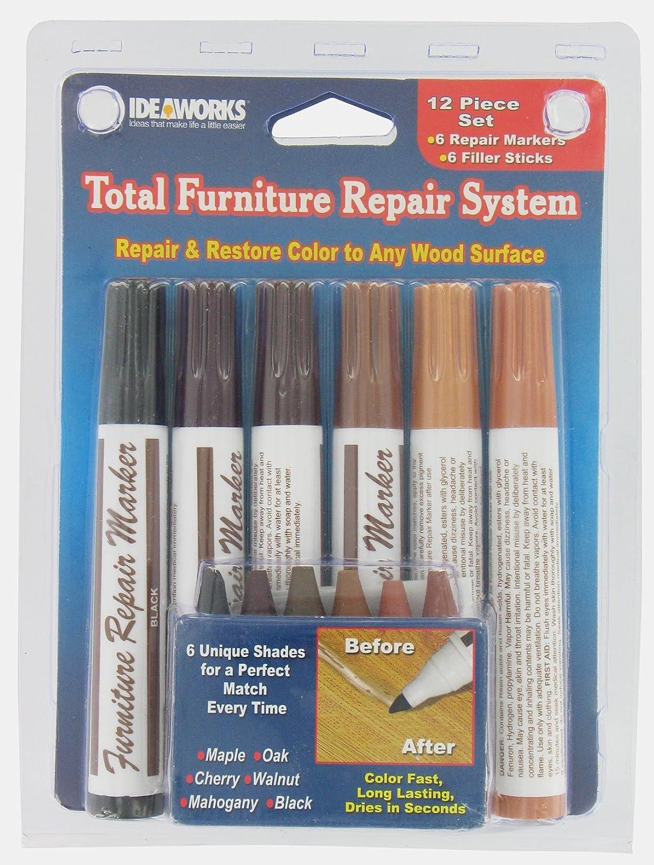 Wood Filler Jb5658 Total Furniture Repair System 6 Marker