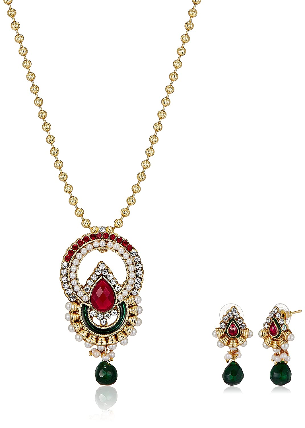 Aheli Jewellery Set for Women (Multi-Colour) (A1PS2227) By Amazon @ Rs.360