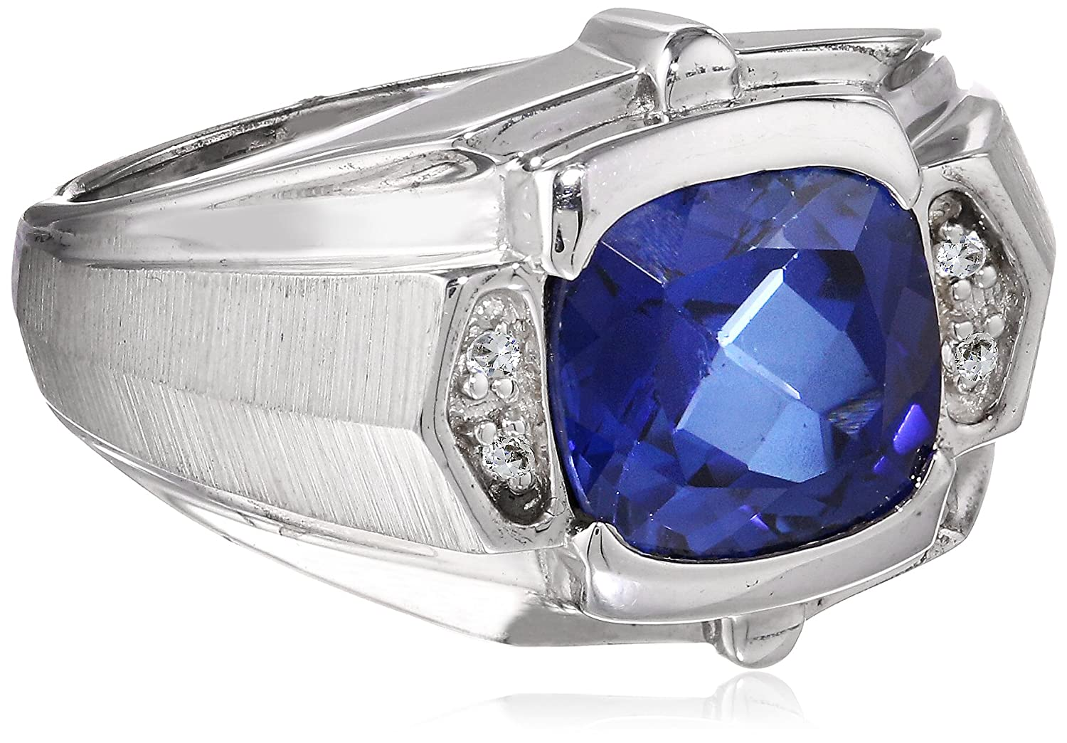 Blue Sapphire Ring For Men Price Men s Sterling Silver Created