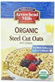 Arrowhead Mills Organic Steel Cut Oats Hot Cereal, 24 Ounce Box