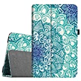 Fintie Folio Case for Samsung Galaxy Tab E 9.6, Slim Fit Premium Vegan Leather Folio Stand Cover for Tab E/Tab E Nook 9.6-Inch Tablet (SM-T560/T561/T565/T567V), Emerald Illusions (Color: Z-Emerald Illusions)